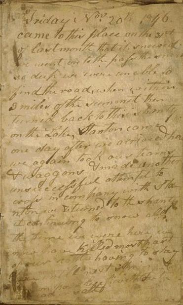 Copy of first page of Breen diary