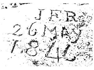 Photograph of Reed's initials